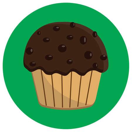 chocolate chip: chocolate chip cupcake