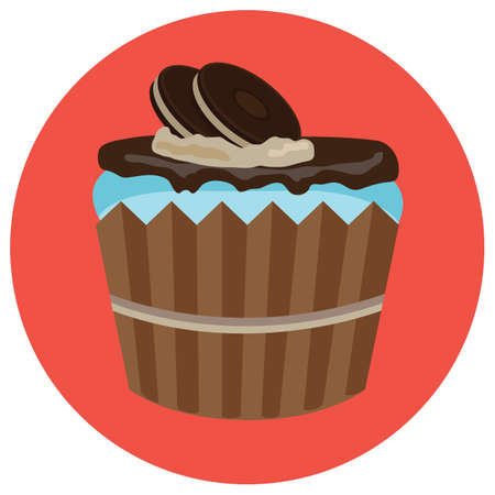 chocolate cupcake: chocolate cupcake with cookies