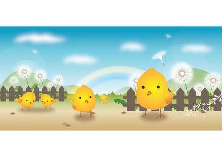 chicks: chicks outdoors