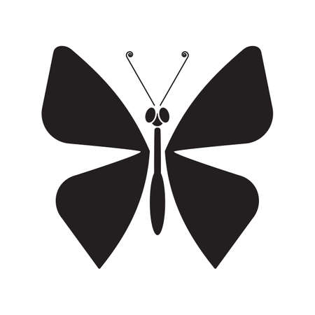 outs: silhouette of butterfly Illustration