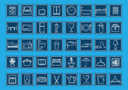 collection of home and electrical appliances