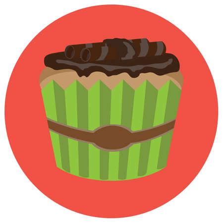 wafer: chocolate wafer cupcake