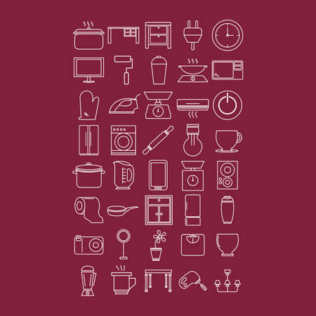 home appliances and kitchenware Illustration