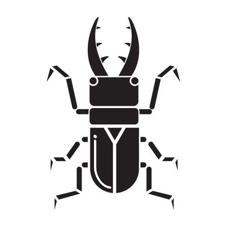 outs: silhouette of beetle Illustration