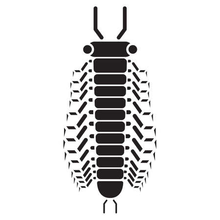 centipede: silhouette of centipede Illustration