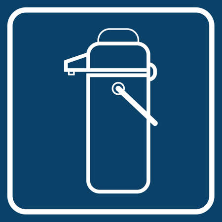 the hot: hot water flask Illustration
