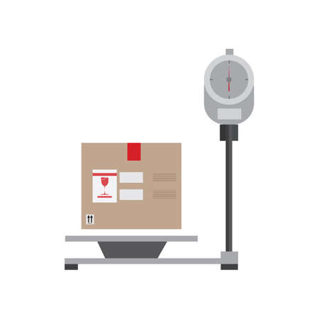 weighing machine: parcel on weighing machine