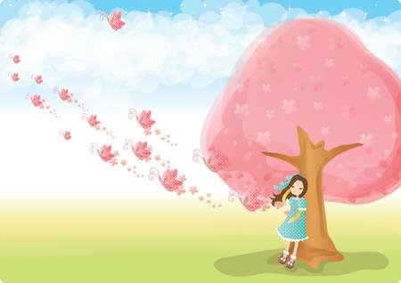 girl: girl in garden