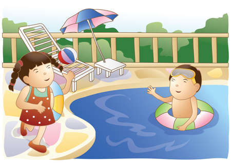 kids swimming pool: kids at swimming pool