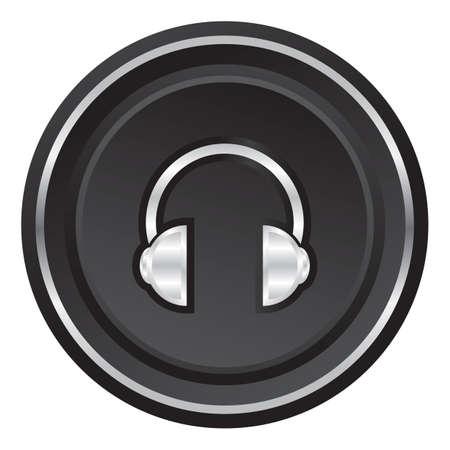 controlling: headphones web button Illustration