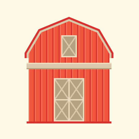 barn wood: barn Illustration
