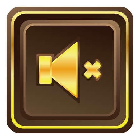 web button: mute volume web button