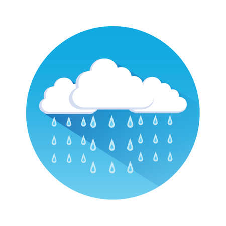 cloudscapes: cloud and rain Illustration