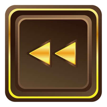 backward: fast backward web button Illustration