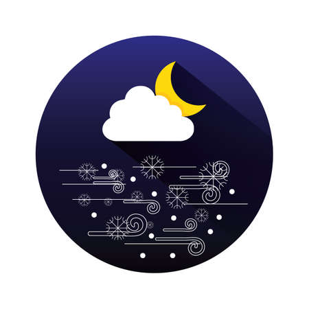 breeze: cloud and moon Illustration