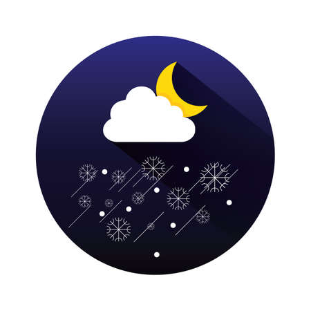 snow storm: snow storm and moon