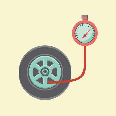 gauge: tyre pressure gauge