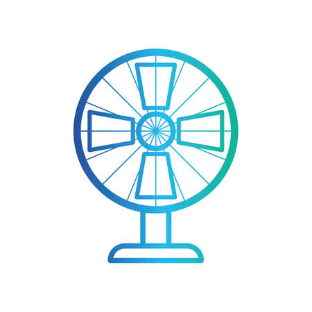 on the table: table fan Illustration