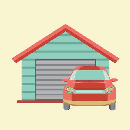 auto en garage
