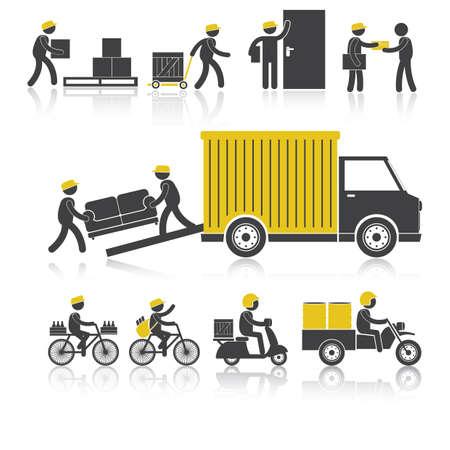 delivering: delivery services Illustration