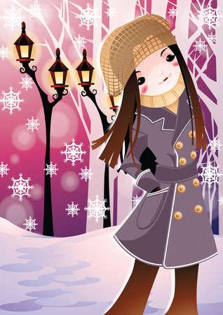 attire: girl in winter attire