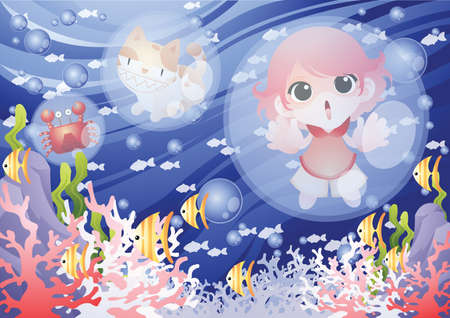 girl trapped in a bubble