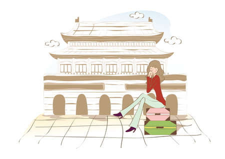 woman at forbidden city