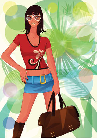 getaways: woman on summer vacation
