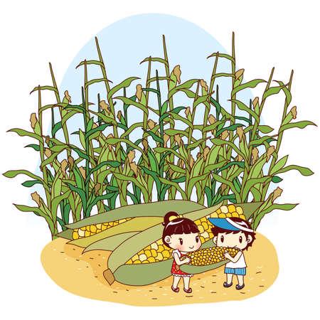 kids eating: kids eating giant corns