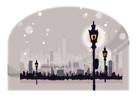street lamp: street lamp Illustration