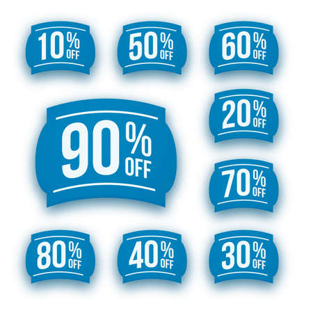 sell out: discount coupons Illustration