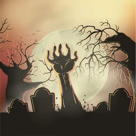 zombiehand stijgen van het graf