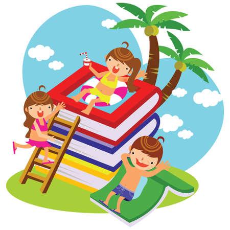 enfants sur les vacances d'été