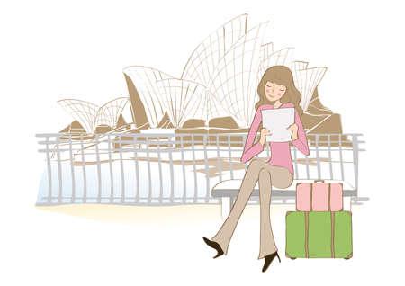 tourist: tourist in sydney Illustration