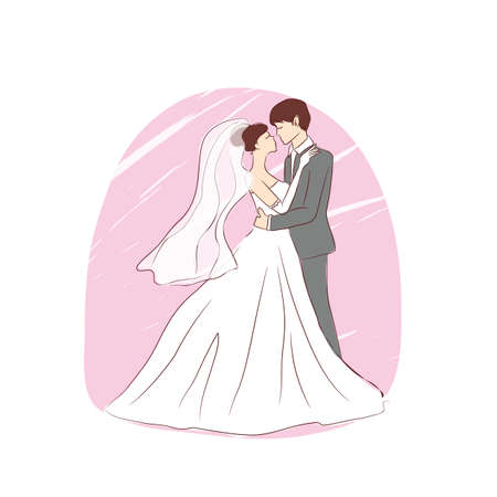 jonggehuwden dansen Vector Illustratie