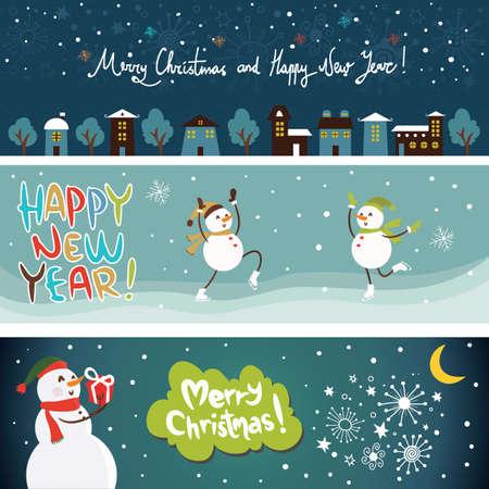 kerst banner collectie