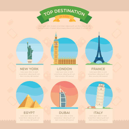top destination infographic