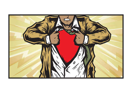 undercover: undercover superhero Illustration
