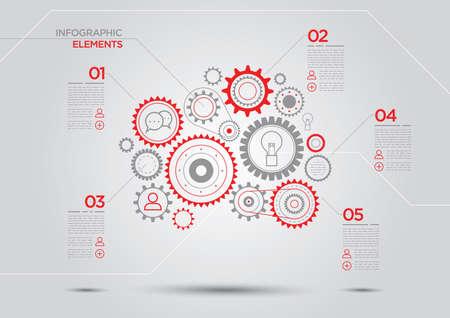 mechaninc: gear chain infographic