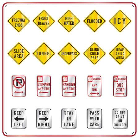 no pase: colección de señales de tráfico