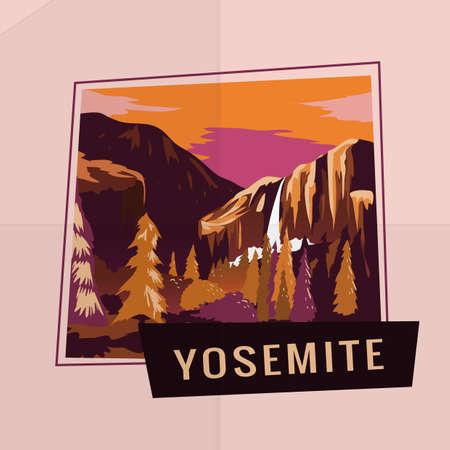 cascade mountains: yosemite