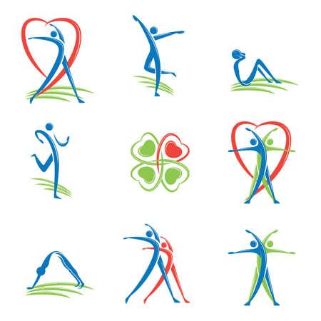 fitness logo Фото со стока - 52862149