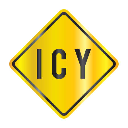 roadsigns: icy Illustration
