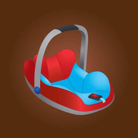 carrier: baby carrier basket Illustration