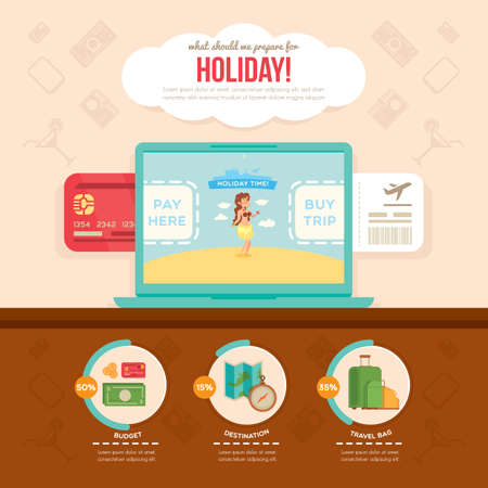 holiday budget: holiday infographic