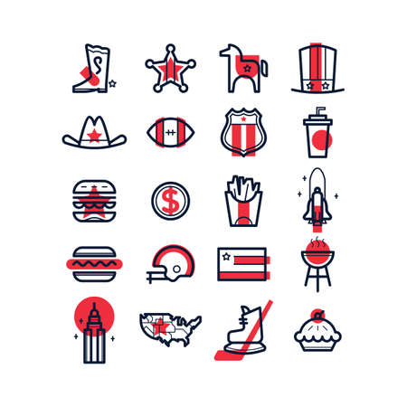 empire state: american culture icons Illustration