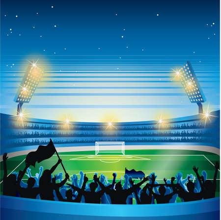 soccer stadium crowd: stadium and crowds