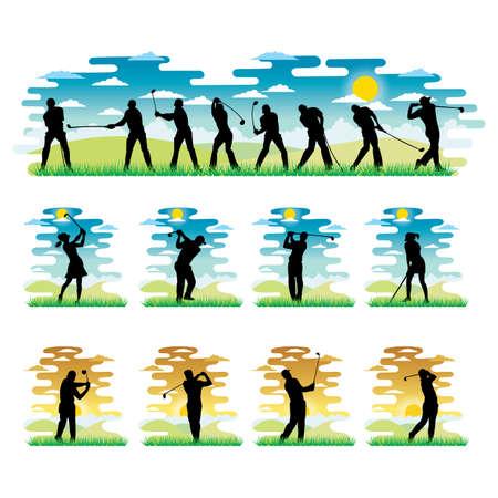 stroking: golf player playing golf