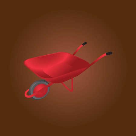 wheel barrow: wheelbarrow Illustration