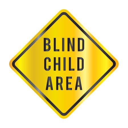 blind child: blind child area Illustration